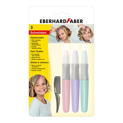 Picture of Eberhard Faber pastels for hair Pearl, 3 colors