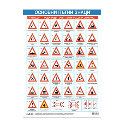 Picture of Student chart, road signs, 70 x 100 cm