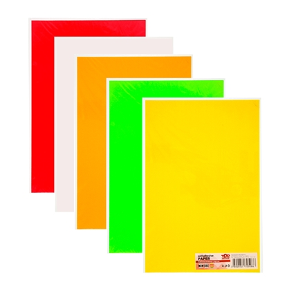 Picture of Top Office Self-adhesive Paper, 20 x 30 cm, 5 colours, 10 sheets