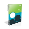 Picture of Notebook, A5,  lined, 2 subjects, offset paper, spiral binding, hard covers, 100 sheets