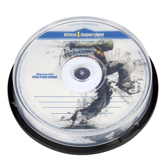 Picture of Office 1 Superstore DVD-R, 4.7 GB, 16x, 10 pcs in a spindle pack