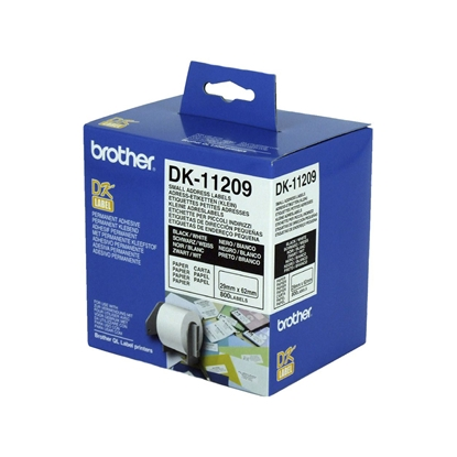 Picture of Brother DK11209 Address labels, 29 x 62 mm, white, 800 pcs. in a roll