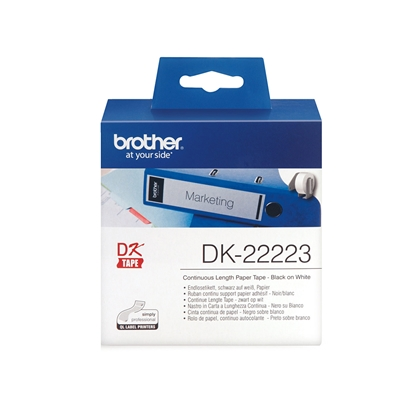 Picture of Brother Continuous paper tape DK22223, 50 mm x 30.48 m, white