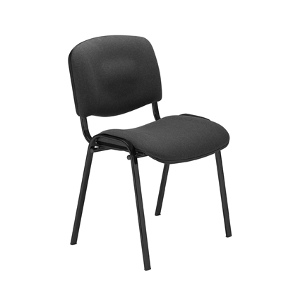 Picture of Nowy Styl ISO Black Visitor Chair, black upholstery