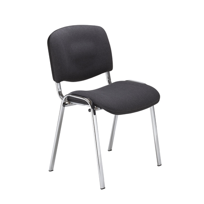 Picture of Nowy Styl ISO Chrome Visitor Chair, black upholstery