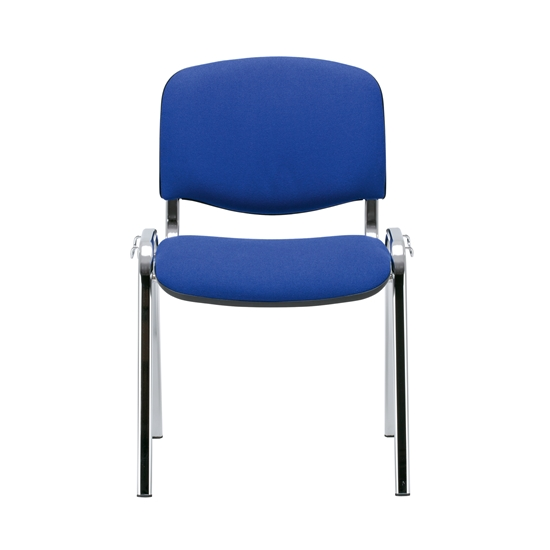 Picture of Nowy Styl ISO Chrome Visitor Chair, blue upholstery