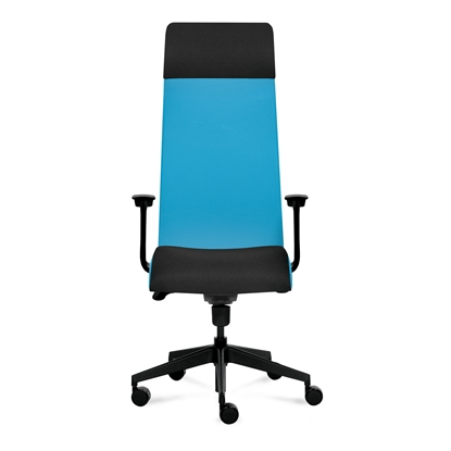 Picture of Tronhill Solium Executive Ergonomic Chair, mesh and upholstery, light blue