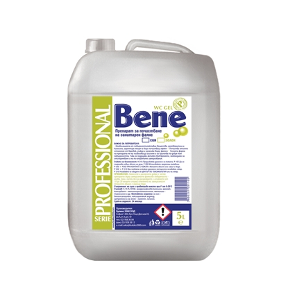 Picture of Bene Professional Toilet bowl cleaner gel, green, 5 L