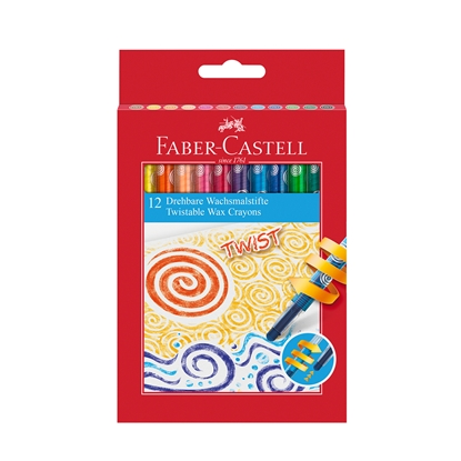Picture of Faber-Castell wax pastels Twist, 12 colors