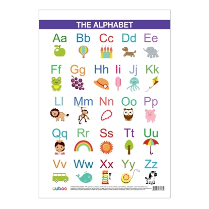 "Picture of Student chart ""English alphabet"", 50 x 70 cm"