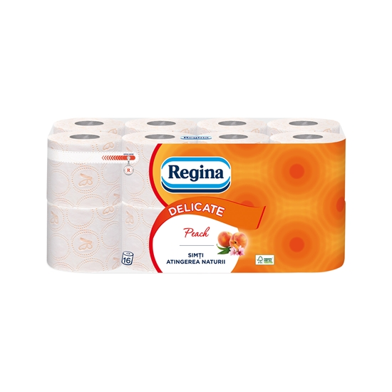 Picture of Volare Toilet paper Peach, celluolose, three-ply, 135 cuts, 16 pcs.