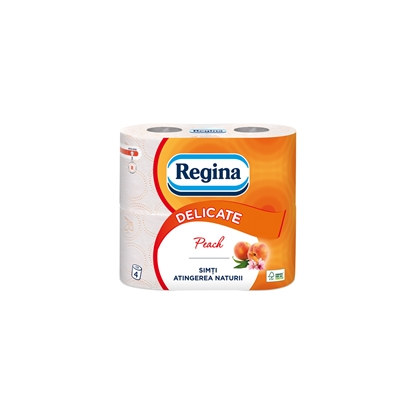 Picture of Volare Toilet paper Peach, celluolose, three-ply, 135 cuts, 4 pcs.