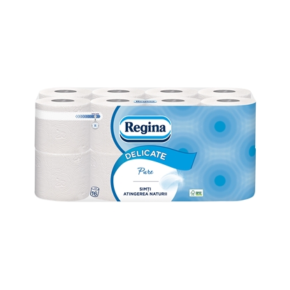 Picture of Volare Toilet paper Pure, celluolose, three-ply, 135 cuts, 16 pcs.
