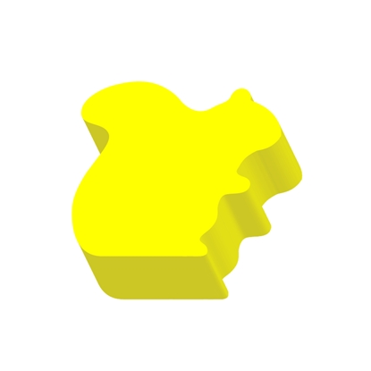 Picture of Stickn Die-Cut Notes, 40 x 41 mm, yellow, 200 sheets, squirrel