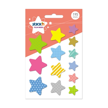 Picture of Stickn Film index Stars, assorted, 195 sheets