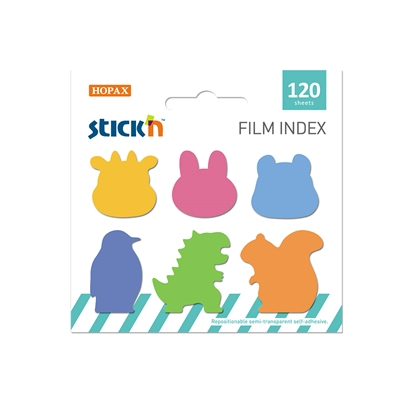 Picture of Stickn Film index Animals A, assorted, 120 sheets