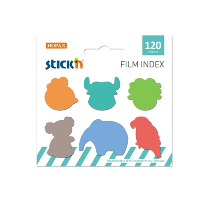 Picture of Stickn Film index Animals C, assorted, 120 sheets