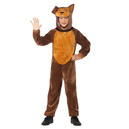 Picture of Brown plush dog costume, size S