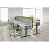 Picture of Narbutas Ergonomic electric desk One, 1600x800x1185 mm, bleached oak melamine, black metal, leg type I