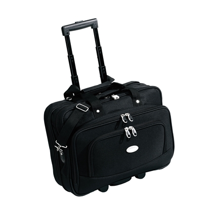 Picture of TOPS Manager Executive Bag on wheels, with telescopic handle, 43.5 x 35 x 17 cm, black