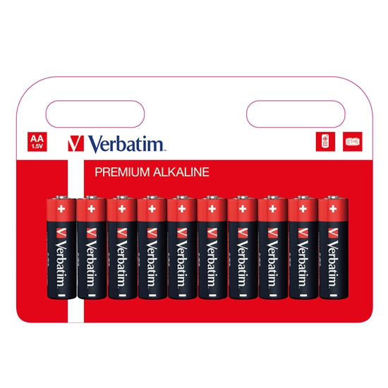 Picture of Verbatim Alkaline Battery, AAA, LR3, 10 pcs.