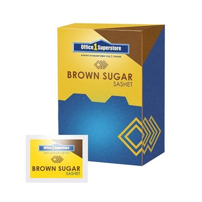 Picture of Sugar, brown, 4 g, in a packages, 150 pcs