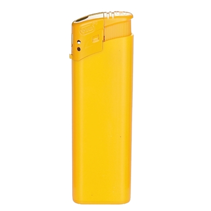 Picture of Tom Cigarette lighter EB-15 plastic, yellow, 50 pcs.