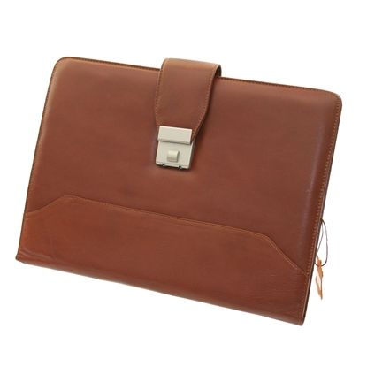 Picture of Leather folder 902 with buckle, brown