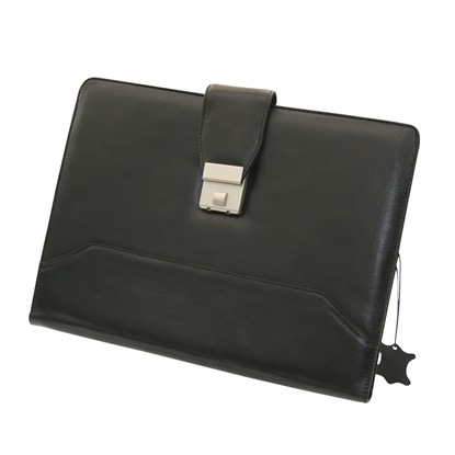 Picture of Leather folder 902 with buckle, black
