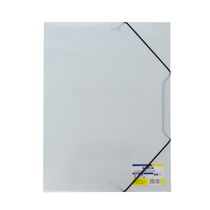 Picture of Office 1 Superstore PP File Folder with rubber band, white
