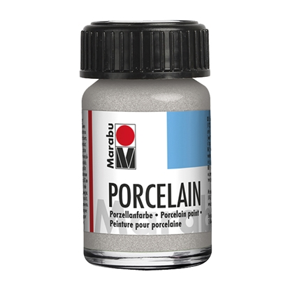 Picture of Marabu Porcelain paint, 15 ml, 582, silver