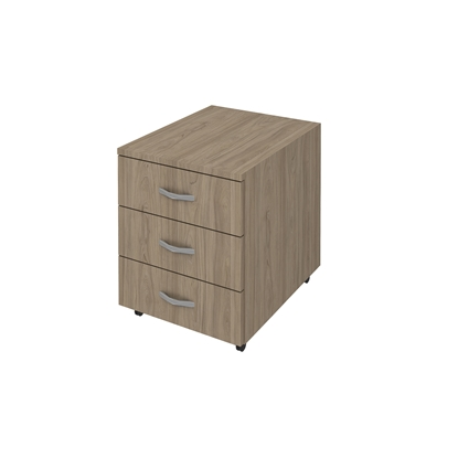 Picture of K3 Container with 3 drawers, 41 x 51 x 51 cm, ash