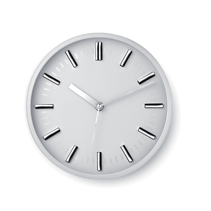 Picture of Wall clock, round, ticking system, white