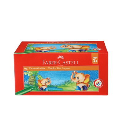Picture of Faber-Castell wax pastels, 58 mm, 12 colors, 96 pcs