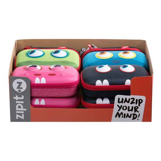 Picture of ZIPIT pencil pouch display Wildlings, in a box, 10 pcs
