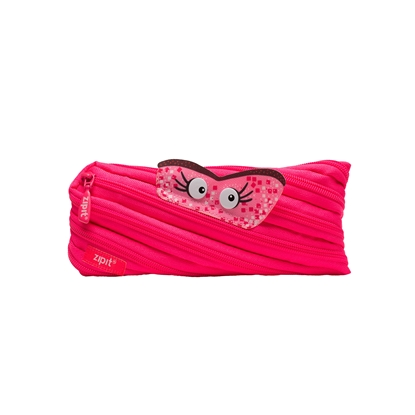 "Picture of ZIPIT pencil pouch ""Talking monstar"", medium, pink"