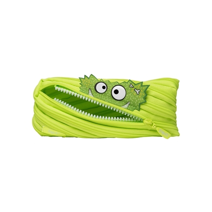 "Picture of ZIPIT pencil pouch ""Talking monstar"", medium, light green"