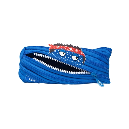 "Picture of ZIPIT pencil pouch ""Talking monstar"", medium, royal blue"