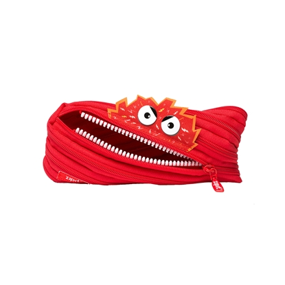 "Picture of ZIPIT pencil pouch ""Talking monstar"", medium, red"