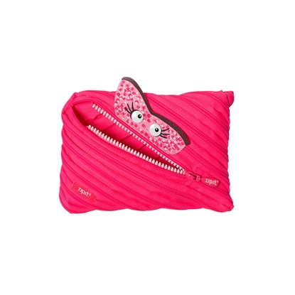 "Picture of ZIPIT pencil pouch ""Talking monstar"", jumbo, pink"