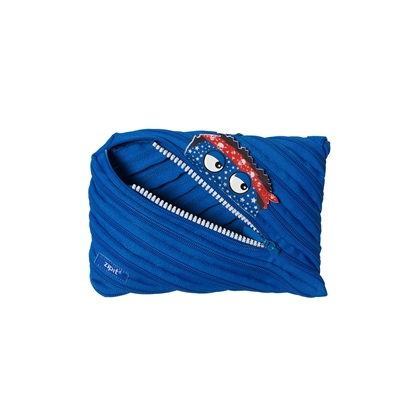 "Picture of ZIPIT pencil pouch ""Talking monstar"", jumbo, royal blue"