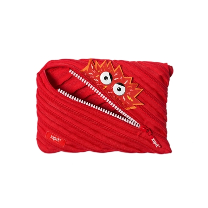 "Picture of ZIPIT pencil pouch ""Talking monstar"", jumbo, red"