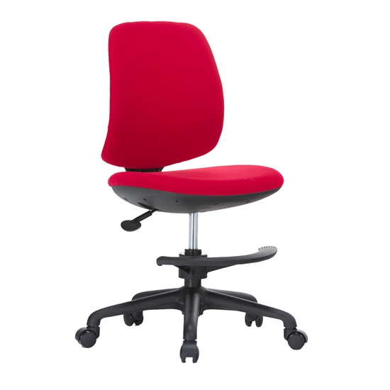 Picture of RFG Childrens chair Candy Foot Black, damask, red seat, red backrest