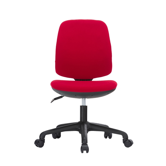 Picture of RFG Childrens chair Lucky Black, damask, red seat, red backrest