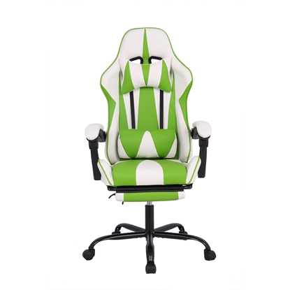 Picture of RFG Max Game Chair, ergonomic, white and green