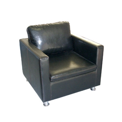 Picture of Belcaro armchair Viola, ecoleather, black