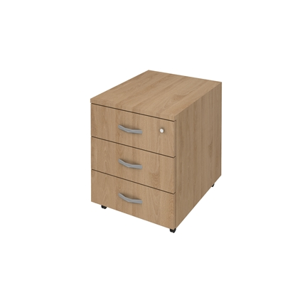 Picture of K3 Container with 3 drawers and key, 41 x 51 x 51 cm