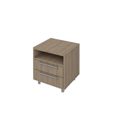 Picture of K6 Container with 2 drawers, 55 x 50 x 58 cm, ash