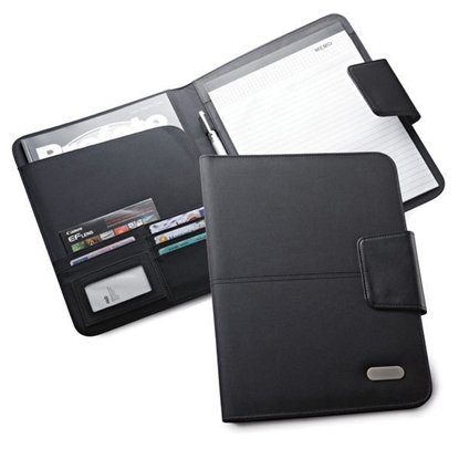 Picture of Hi!dea Document folder Bocage leather, A4, magnetic closure, black