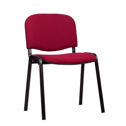 Picture of Nowy Styl ISO Black Visitor Chair, burgundy upholstery